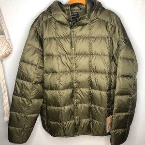 Burton Men's Evergreen Snap Hooded Jacket Green